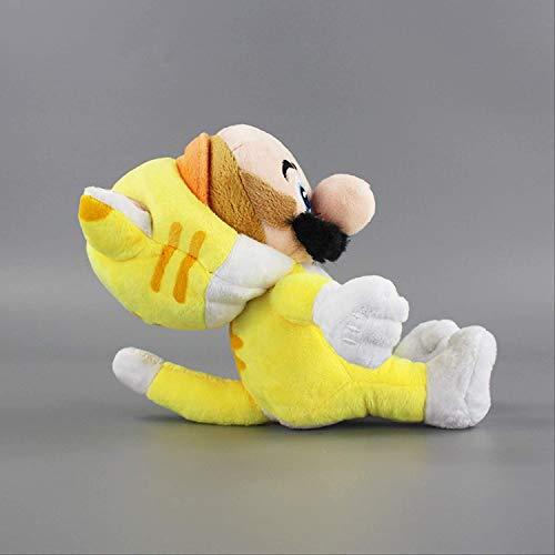 DINEGG Gelbe Katze Mario Plüschtier 24cm Super Mario 3D World Plüsch Gefüllte Puppe Kinder Geschenk QQQNE