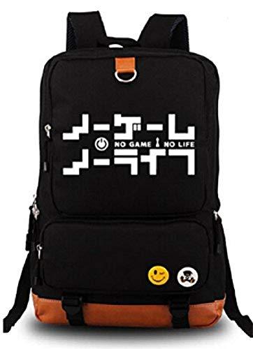 Bkckzzz Japanische Anime Cosplay Leinwand Bookbag Rucksack Umhängetasche Schultasche @ No_Game_No_Life