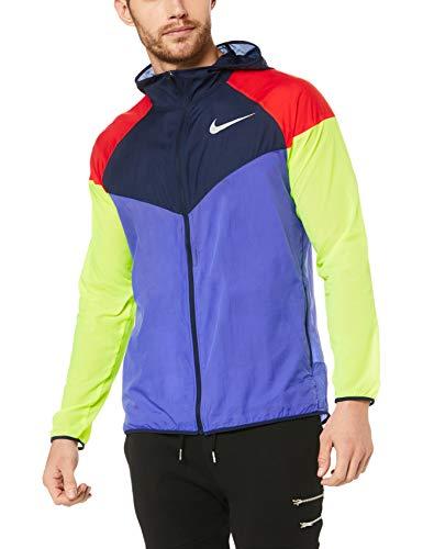 Nike Men's Running Windrunner Jacket (L, Persian Violet/Obsidian)