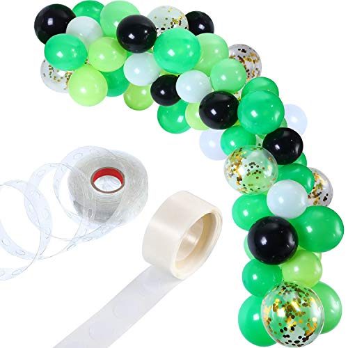 Tatuo 112 Pieces Balloon Garland Kit Balloon Arch Garland for Wedding Birthday Party Decorations (White Green)