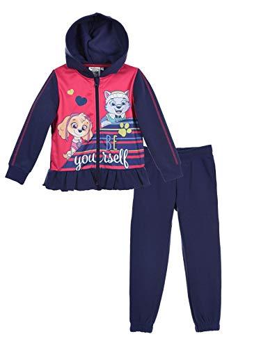 La Patrulla Canina - Conjunto de chándal con capucha para niña, color rosa y azul marino de 3 a 6 años azul marino 4 años