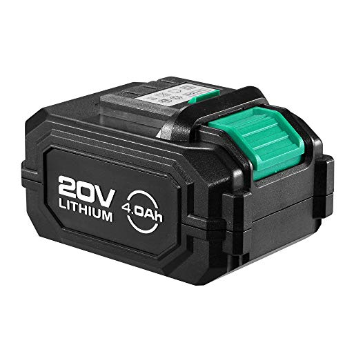 KIMO 20V Max Lithium-ion Rechargeable Battery, 4.0Ah Long Life Battery for Cordless Drill, Angle Grinder, Brad Nailer, Cordless Oscillating Tool, Impact Drill Driver, All 20V Battery-Powered Tools