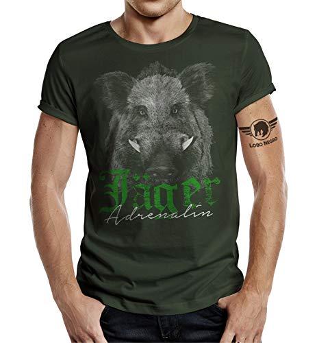 Jäger - Camiseta, diseño de Adrenalin Eber verde oliva XL