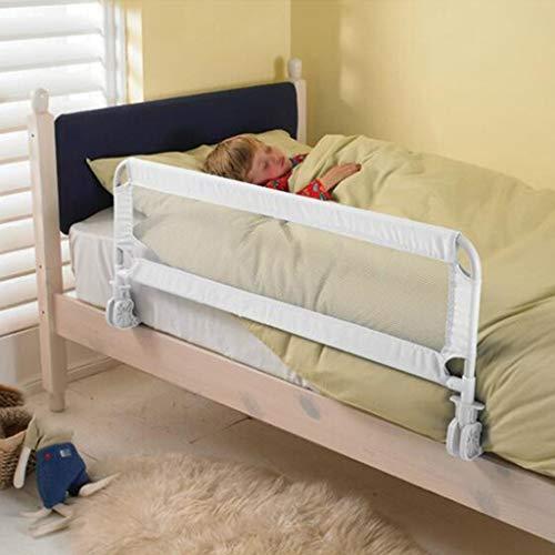 1 mètre Portable Bed Rail, Safety 1st Pliable Blanc Portable Compact lit Voyage ferroviaire Enfants bienvenus Utilisation facile à installer Bed rail (Color : White, Size : 100CM)