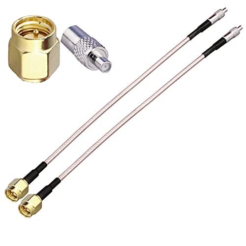 TUOLNK 2 paquetes de 6 '' SMA macho a TS9 hembra RG316 Cable de extensión SMA macho a TS9 hembra Cable adaptador de antena SMA macho a TS9 hembra Cable de extensión de enrutador de antena 4G