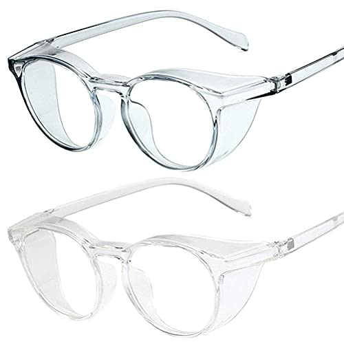 WHkeji Paquete de 2 gafas de luz azul, gafas de juego de computadora cuadradas, marco de anteojos bloqueador de luz azul para mujeres y hombres, A2, Medium