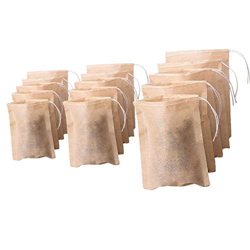 H HILABEE 300 Pcs Bolsitas de Té Vacías Material de Grado Alimenticio Hecho Filtro Té con Cordón único