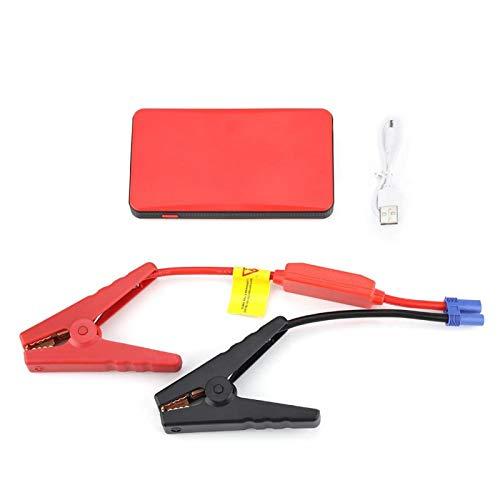 Tragbarer Auto-Starthilfe, 8000mAH 300A Starthilfe Power Bank mit Ladeanschluss LED-Licht Passend für Benzinmotor 3.0L Schwarz(rot)