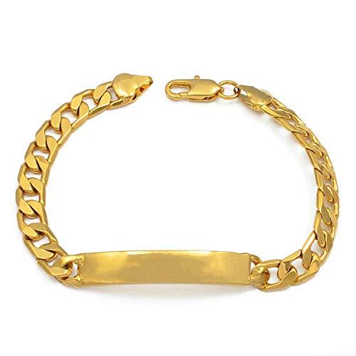 VAWAA Hombres Pulseras Oro Color Cadena de Mano joyería Dubai Abar Oriente...