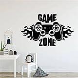 Lindo papel tapiz Gamepad pegatinas de pared área de juego pared vinilo calcomanía sala de juegos pegatina Mural otro color 57x96cm