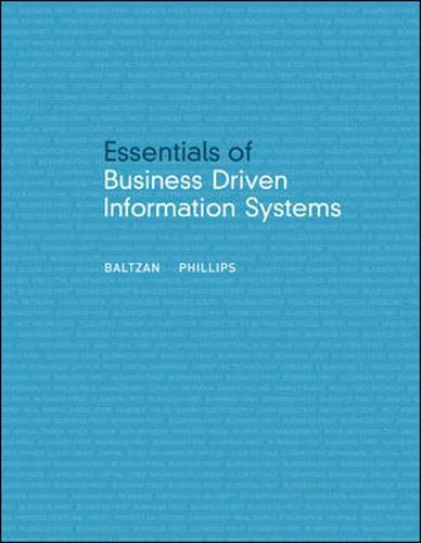 Download Essentials of Business Driven Information Systems 0073376728