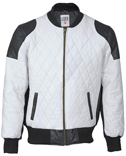 Leder24h Herren Lederjacke 2060 schwarz weiß Gr. 4XL