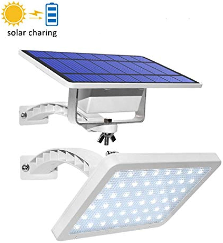 MOCHEN Solar Wandleuchte, 48LED Solar Integrierte Gartenleuchte Intelligente Lichtsteuerung Solar Split Wandleuchte IP65 Wasserdichtes Licht für Auenbeleuchtung
