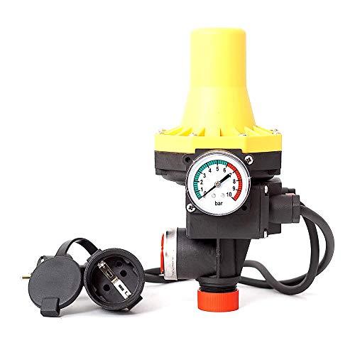 Pumpensteuerung SK PC-12 Druckschalter Druckwächter für Pumpe Gartenpumpe Hauswasserwerk mit ntegrierten Trockenlaufschutz und Kabel (2x)