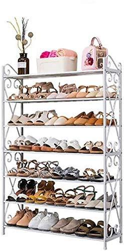 Zapatero de bambú Zapatero, 7 capas Estante de zapatos ensamblado Estante de almacenamiento vertical Estante de almacenamiento multifuncional Estante de zapatos (Tamaño: 40 cm * 25 cm * 126