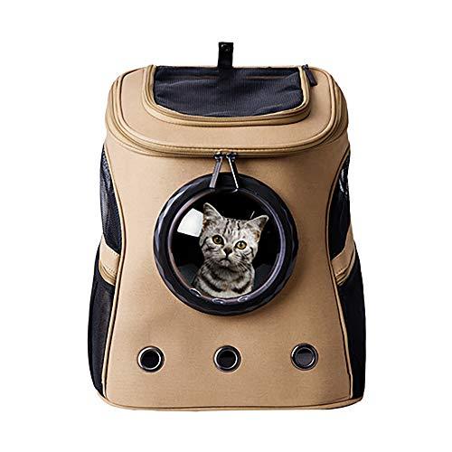 S&C Live ペットキャリーリュック 大きい 犬猫 大型猫専用 中型犬 大型犬 お出かけ専用 通院 自転車 帰省 旅行 避難 防災 軽量 通気性優れる マット付 ペットバッグ カプセル型 犬猫兼用 宇宙船カプセル型 キャリーケース 犬スリング リュック