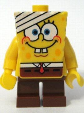LEGO BOB ESPONJA CUERPANTES MINI-FIGURA - BOB ESPONJA CON BANDAGE