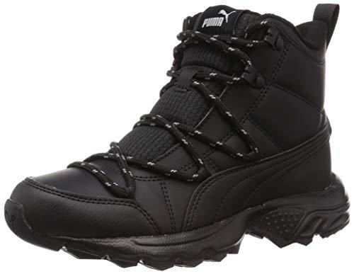 PUMA Unisex AXIS TR Boot WTR MU Sneaker, Black Black Aged Silver, 38.5 EU