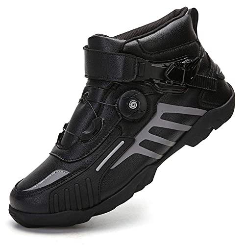 Zapatos para Montar en Motocicleta Mujeres Hombres Pareja Zapatos para Locomotoras Botas de Carreras Todoterreno Equipo de Brigada de...