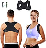 Posture Corrector for Women Men - Fully Adjustable Straightener for Mid - Upper Spine Support- Neck, Shoulder, Clavicle and Back Pain Relief-Breathable, (Universal)