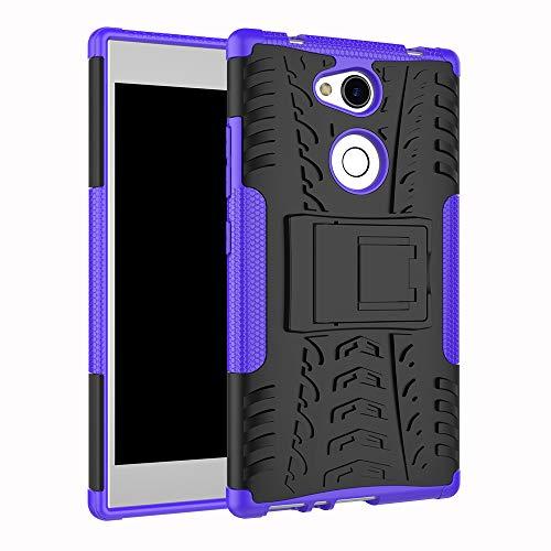 betterfon | Sony Xperia L2 hülle Outdoor Handy Tasche Hybrid Hülle Schutz Hülle Panzer TPU Silikon Hard Cover Bumper für Sony Xperia L2 Blau