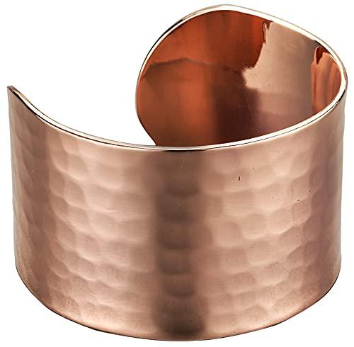 DEMMEX - Pulsera unisex de cobre martillado turco de 1,5 mm de grosor de cobre puro de gran calibre 1,5 mm de grosor, reduce el dolor en las articulaciones, la inflamación y el estrés, 4 cm de ancho