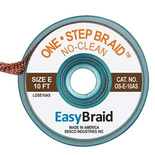 EasyBraid OS-E-10AS 4 years warranty One-Step Desoldering Braid 1 Clean Purchase x .125 No