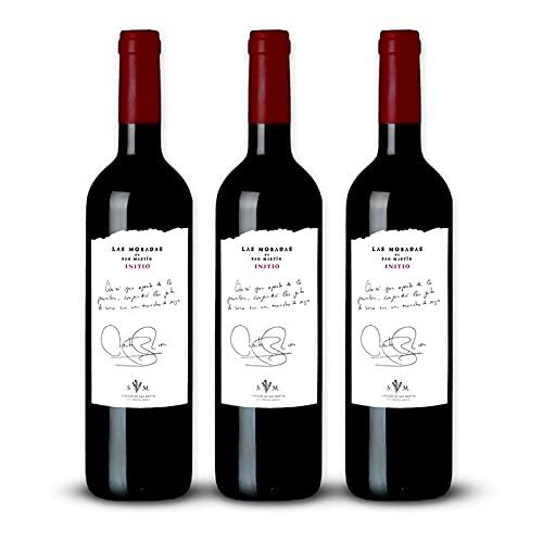 Vino Tinto Initio de 75 cl - D.O. Madrid - Bodegas Las Moradas de San Martin (Pack de 3 botellas)