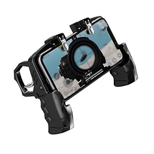 DDELLK Mobiele game controller, spel-hendel activeren metalen knop hulp, spelcontroller voor schietspelhulp, mobiele gaming joysticks voor smartphone