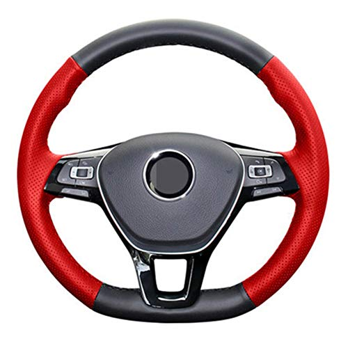 zxhLSA Auto Lenkradabdeckung Lenkrad Auto Zubehör, für Volkswagen VW Passat B8 Golf 7 GTI Golf R MK7 VW...