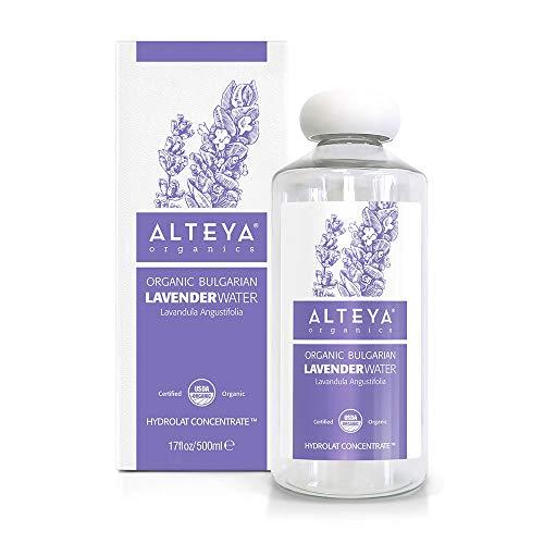 Alteya Organic Lavendelwasser 500 ml - 100% USDA-zertifiziertes Bio-Authentisches reines natürliches Blumenwasser, dampfdestilliert und direkt vom Lavendelzüchter Alteya Organics verkauft