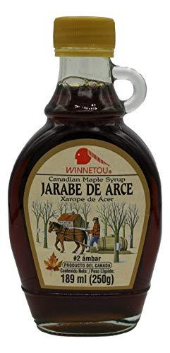 Winnetou Jarabe De Arce 100% Natural | Maple Syrup | Canadá #2 Ámbar/Grado A | 250 G, Dulce A Sabia De Arce