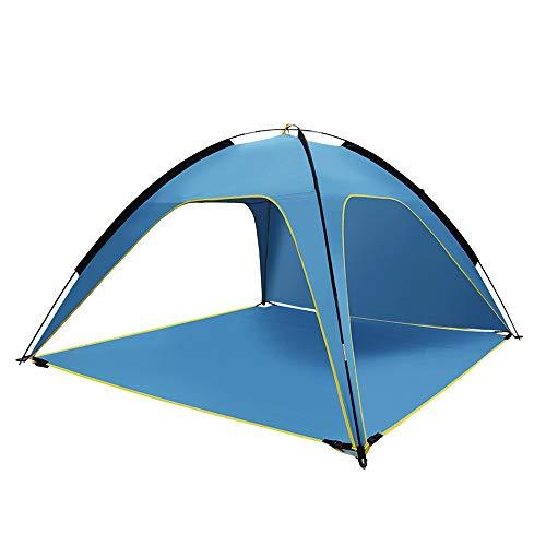 nonbrand Tienda de Playa, Refugio de cabaña UV Sun Shade, para Acampar, Caminar, Pescar, Ligero, portátil, Transpirable y a Prueba de Viento, Plegable