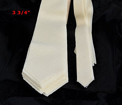 "10 PACK of PRE-CUT 100% wool medium weight necktie interfacing / interlining W14/13-33TH AC Ter Kuile, finest available, made in Netherlands (5 SIZES AVAILABLE) (3 3/4"")"