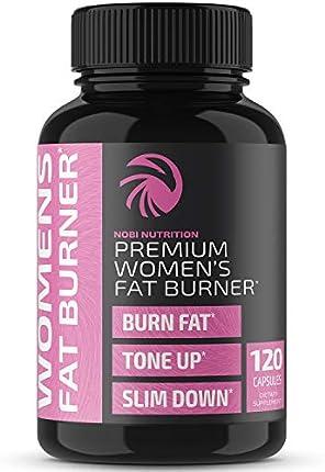 Nobi Nutrition - Quemador de grasa premium para mujer, suplemento termogénico, bloqueador de carbohidratos, refuerzo del metabolismo y supresor del apetito, pérdida de peso más saludable, píldoras energéticas, 120 cápsulas