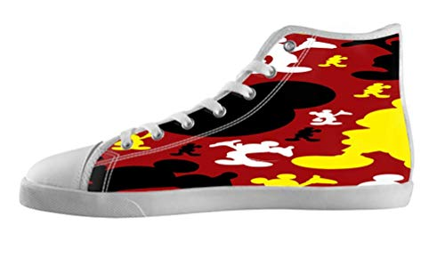 Men's Anime Style DIY White High Top Canvas Shoes