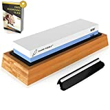 Sharp Pebble Premium Whetstone Knife Sharpening Stone 2 Side Grit 1000/6000...