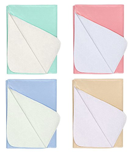 Nobles 4 Pack - Waterproof Reusable Incontinence Underpads/Washable...