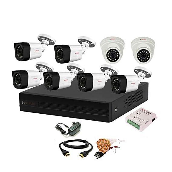 Cp Plus 8 Channal HD DVR 1080p 1Pcs,Outdoor Camera 2.4 MP 6Pcs,Indoor Camera 2.4 MP 2Pcs,Combo Set