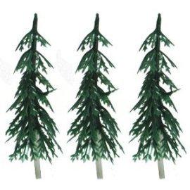 6 Layer Evergreen Pine Tree Picks - 24 ct