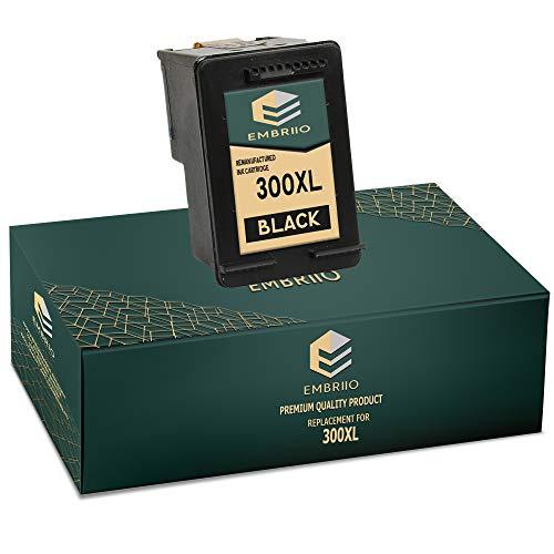 EMBRIIO 300 300XL Negro Cartucho de Tinta Reemplazo para HP Deskjet D1660 D1663 D2530 D2545 D2560 D2660 D5560 F2420 F2480 F4210 F4240 F4272 F4280 F4580 F4583 Photosmart C4780 C4680