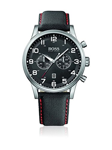 Hugo Boss Watch, Men's Chronograph Aeroliner Black Cordura Strap 44mm 1512919