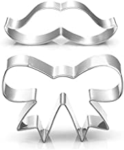 WOTOY Beard And Bow Tie Biscuit Cookie Cutter - Stianless Steel