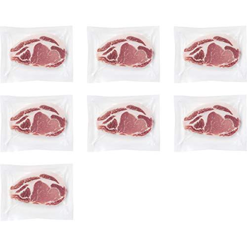 鹿児島県産黒豚 ロースステーキ(7枚) お中元お歳暮ギフト贈答品プレゼントにも人気