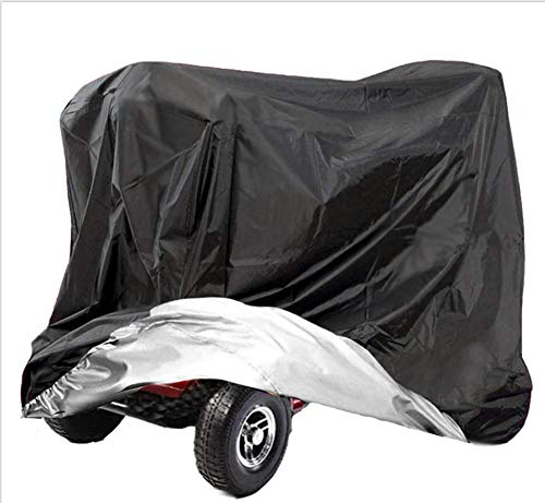 AMSAMOTION Mobility Scooter Storage Cover, Wheelchair Cover Waterproof for Travel Lightweight Electric Chair Cover Rain Protector from Dust Dirt Snow Rain Sun Rays