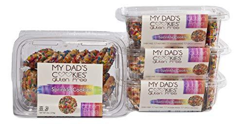 My Dad's Cookies, Gluten Free, Nut Free, Kosher, Dairy Free, 6 oz (Sprinkle Cookie, 3 Pack)