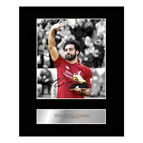 Fotodruck mit Autogramm von Mohamed Salah, FC Liverpool