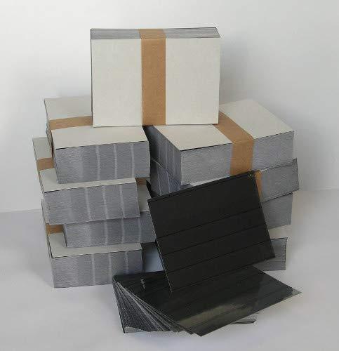 Leuchtturm Goldhahn EINSTECKKARTEN mit Schutzfolie ca. C6 4 Streifen 100 Stück schwarzer Karton Briefmarken für Sammler