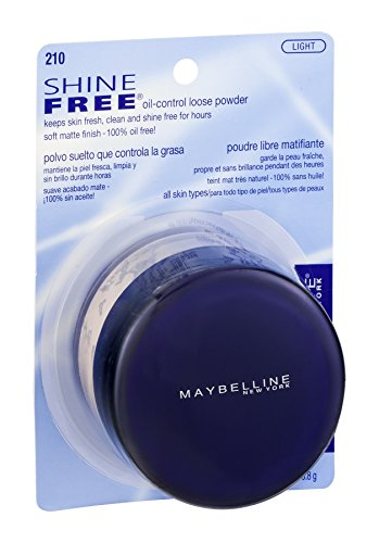 Maybelline New York Shine Free Oil Control Loose Powder, Light [210] 0.7 oz (Pack of 2)