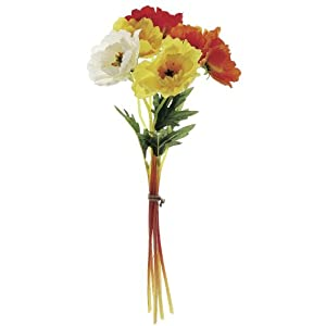 12″ Poppy Artificial Flower Bundle